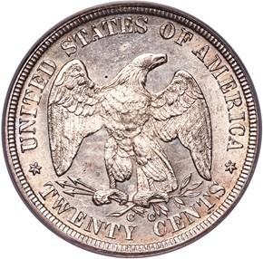 1876 CC 20C MS reverse