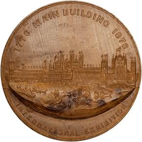 1876 PA WOOD MAIN BLDG W/FOREGROUND 77mm MS obverse
