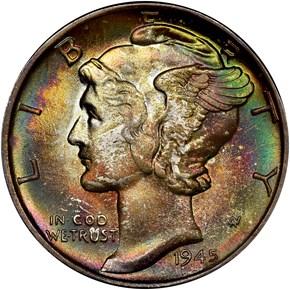 1945 10C MS obverse