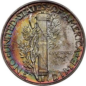 1945 10C MS reverse
