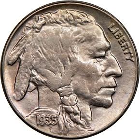 1935 S 5C MS obverse