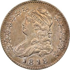1818/5 B-1 25C MS obverse