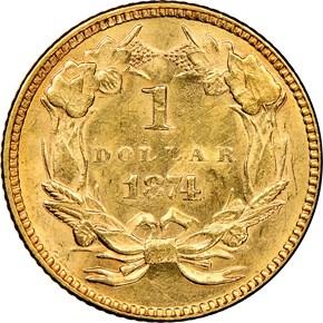 1874 G$1 MS reverse