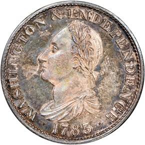 1783 GR EDGE SIL RESTRK WASHINGTON & INDEPENDENCE obverse