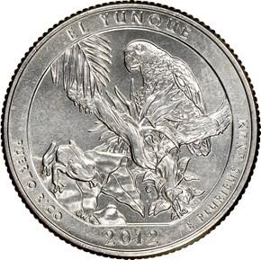 2012 D EL YUNQUE 25C MS reverse