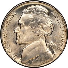 1948 5C MS obverse