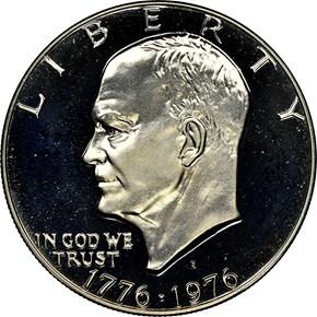 1776-1976 S SILVER $1 PF obverse