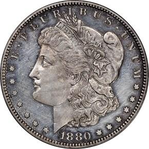 1880 $1 PF obverse