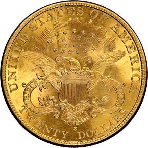 1899 S $20 MS reverse