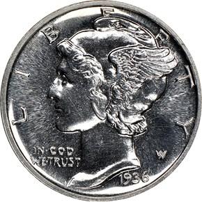 1936 10C PF obverse