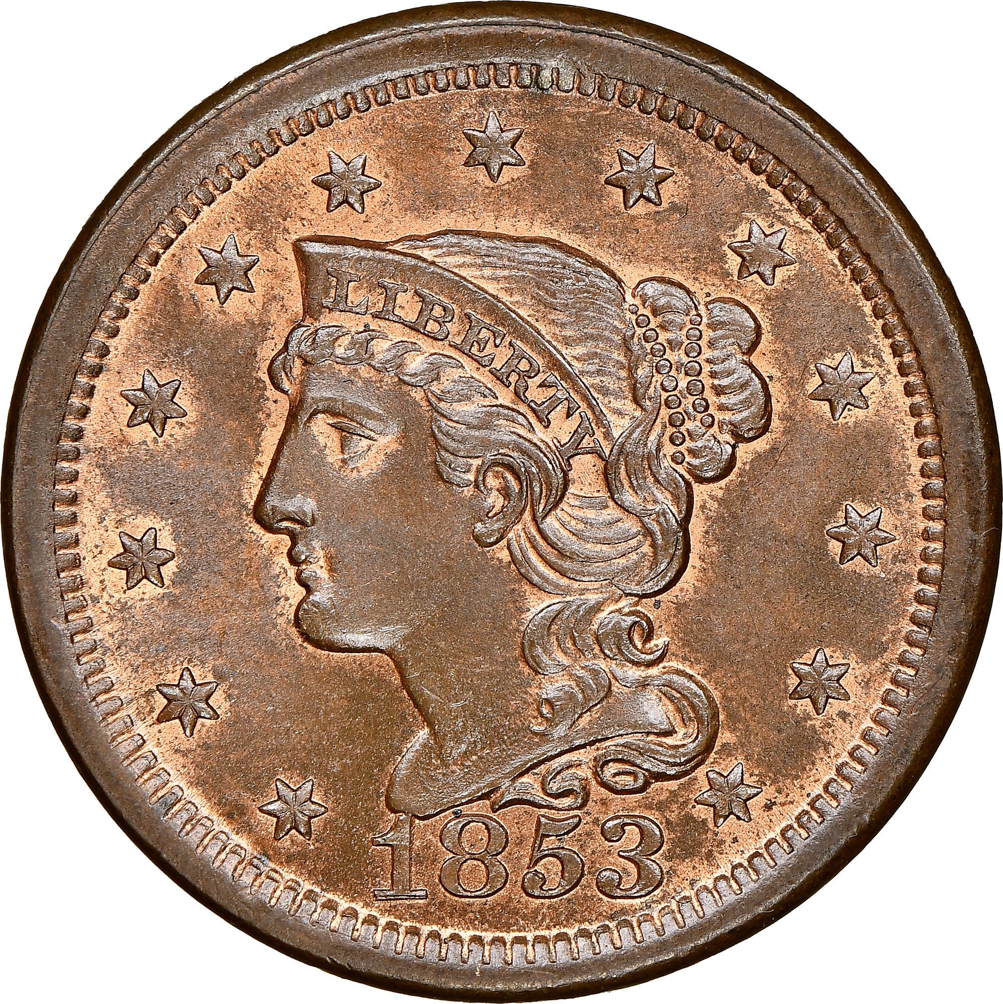 1853 1c Ms Coin Explorer Ngc