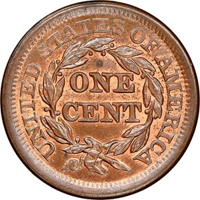 1853 1C MS reverse