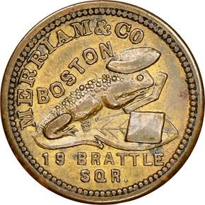 1863 BOSTON F-115D-2b MA MS reverse