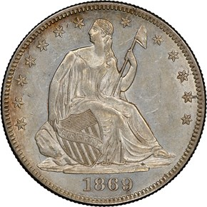 1869 50C MS obverse
