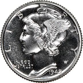 1942 10C PF obverse