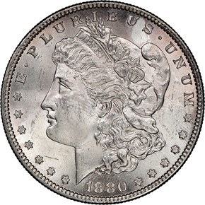 1880 O $1 MS obverse