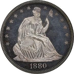 1880 50C PF obverse