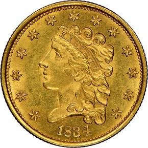 1834 CLASSIC $2.5 MS obverse