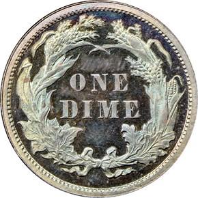 1879 10C PF reverse
