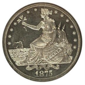 1875 J-1423 T$1 PF obverse