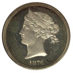 1876 J-1457 S$1 PF obverse