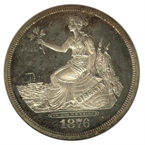 1876 J-1470 S$1 PF obverse
