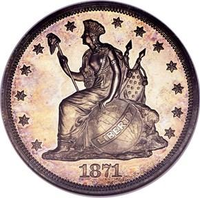 1871 J-1133 S$1 PF obverse