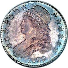1829 50C PF obverse