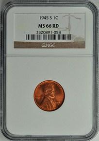 1945 D 1C MS obverse