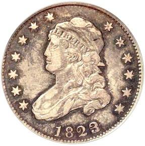 1823/2 B-1 25C MS obverse