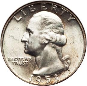 1953 D 25C MS obverse