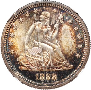 1888 S 25C MS obverse