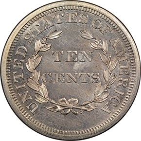 1868 J-647 10C PF reverse