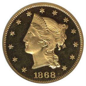 1868 J-661 $10 PF obverse