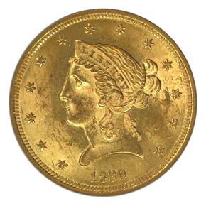 1839 $5 MS obverse