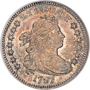 1797 13 STARS JR-2 10C MS obverse