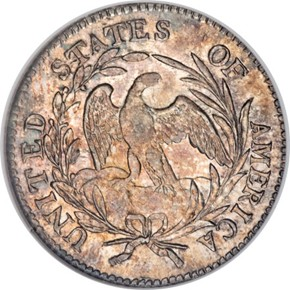 1797 13 STARS JR-2 10C MS reverse