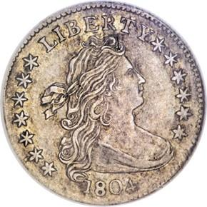 1804 13 STARS REV JR-1 10C MS obverse