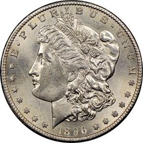 1896 S S$1 MS obverse