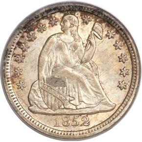 1852 10C MS obverse