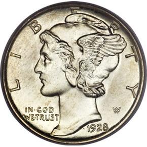 1928 S 10C MS obverse