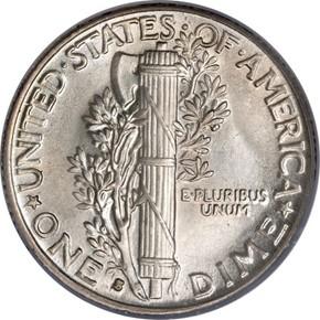 1931 S 10C MS reverse