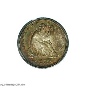 1855 O ARROWS 25C MS obverse