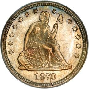 1870 25C MS obverse