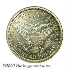 1897 S 25C MS reverse
