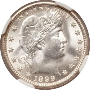 1899 O 25C MS obverse