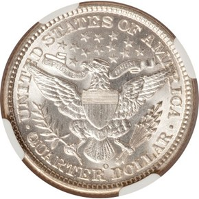 1899 O 25C MS reverse