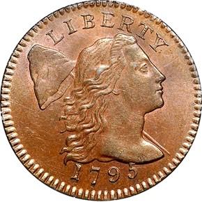 1795 LETTER EDGE 1C MS obverse
