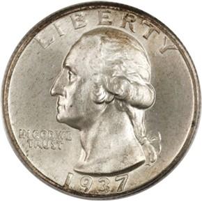 1937 25C MS obverse