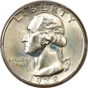 1938 25C MS obverse